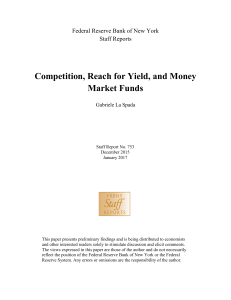 Competition, Reach for Yield, and Money Market Funds