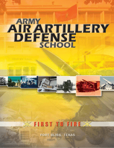the army air defense school is born