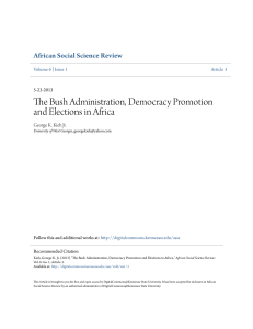 The Bush Administration, Democracy Promotion and Elections in