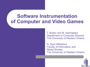 Software Instrumentation of Computer and Video Games