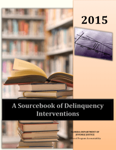 A Sourcebook of Delinquency Interventions