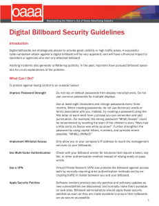 Digital Billboard Security Guidelines
