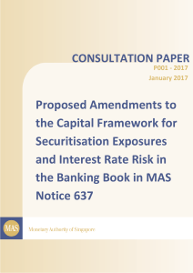 Amendments to the Capital Framework for Securitisation Exposures