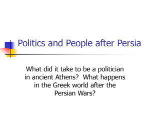Politics and People after Persia