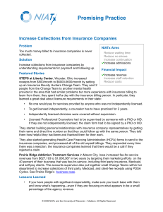 Increase Collections from Insurance Companies