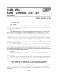 URNER BARRY MARKET REPORTING GUIDELINES