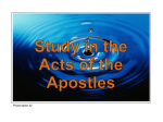 42 Acts 20v13-38 Paul`s Farewell Address