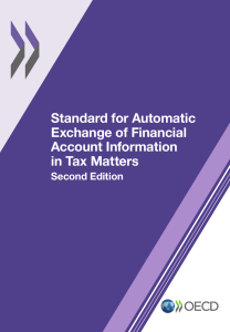 Standard for automatic exchange of financial account