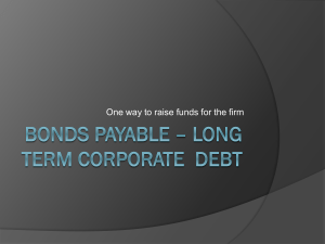 Bonds Payable * A corporate debt