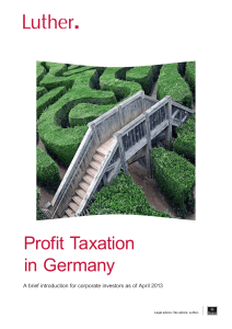Profit Taxation in Germany - Luther Rechtsanwaltsgesellschaft