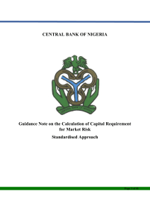 Guidance Note on the Calculation of Capital Requirement for Market