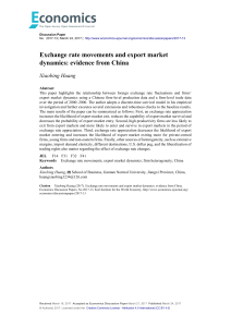 Exchange rate movements and export market dynamics: evidence