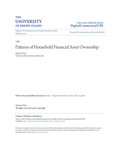 Patterns of Household Financial Asset Ownership