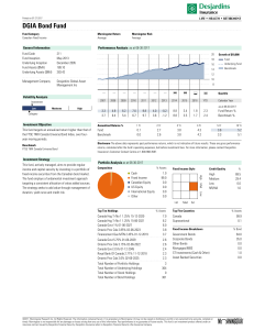 DGIA Bond Fund - Desjardins Life Insurance