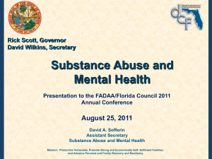 Mental Health Redesign - Florida Alcohol and Drug Abuse Association