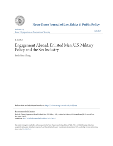 Engagement Abroad: Enlisted Men, US Military