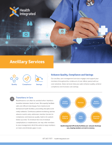 Ancillary Services - Health Integrated