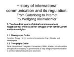 History of international communication and its regulation: