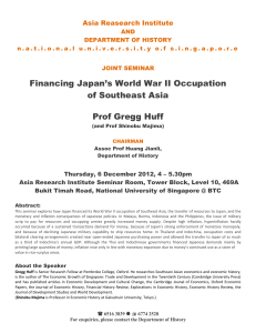 Financing Japan`s World War II Occupation of Southeast Asia Prof