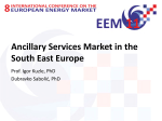 Ancillary Services Market in the South East Europe