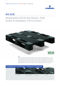 H3 ECO REGRANULATED MATERIAL FOR HIGH ECONOMIC