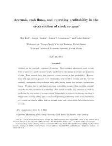 Accruals, cash flows, and operating profitability in the cross section
