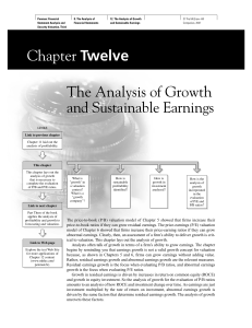 Chapter Twelve The Analysis of Growth and Sustainable Earnings