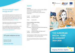 The European Social Fund in Germany 2014-2020