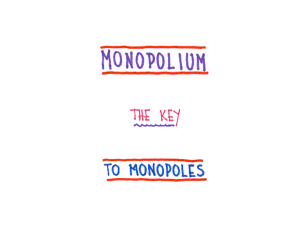 Carlos Garcia Canal: Monopolium: the key to monopoles?