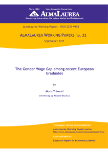 ALMALAUREA WORKING PAPERS no. 32 The Gender Wage Gap