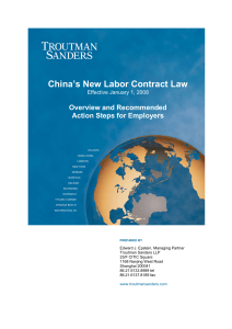 china`s new labor contract law