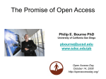 The Promise of Open Access