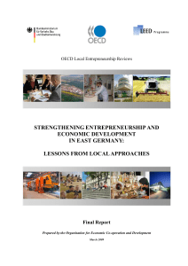 strengthening entrepreneurship and economic development in east