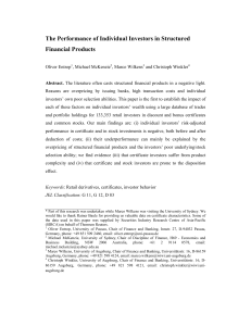 The Performance of Individual Investors in Structured Financial
