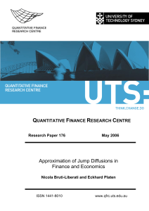 Quantitative Finance Research | University of Technology Sydney