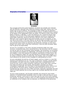 Biography of Euripides