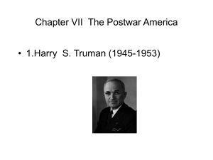 Chapter VII The Postwar America