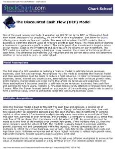 The Discounted Cash Flow (DCF) Model -- Chart School