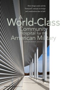 A World-Class Community Hospital for the American Military