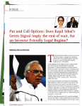 I Put and Call Options: Does Kapil Sibal`s Green Signal