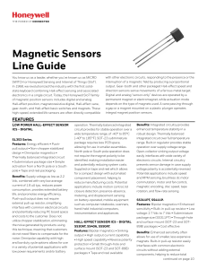 Magnetic Sensors Line Guide