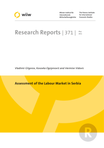 wiiw Research Report 371: Assessment of the Labour Market in Serbia