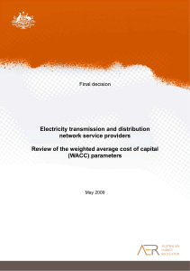 Final decision - Review of electricity transmission and distribution