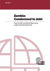Zambia: Condemned to debt