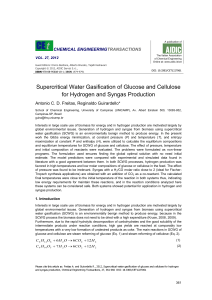 Supercritical Water Gasification of Glucose and Cellulose for