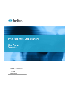 PX3-3000/4000/5000 Series User Guide