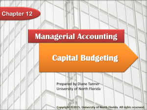 Capital Budgeting - University of North Florida