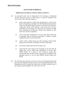 Amendments to the Rules of the Exchange in relation to the