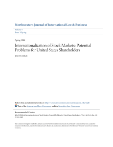 Internationalization of Stock Markets: Potential Problems for United