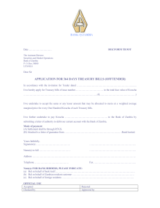 application for 364 days treasury bills (offtender)